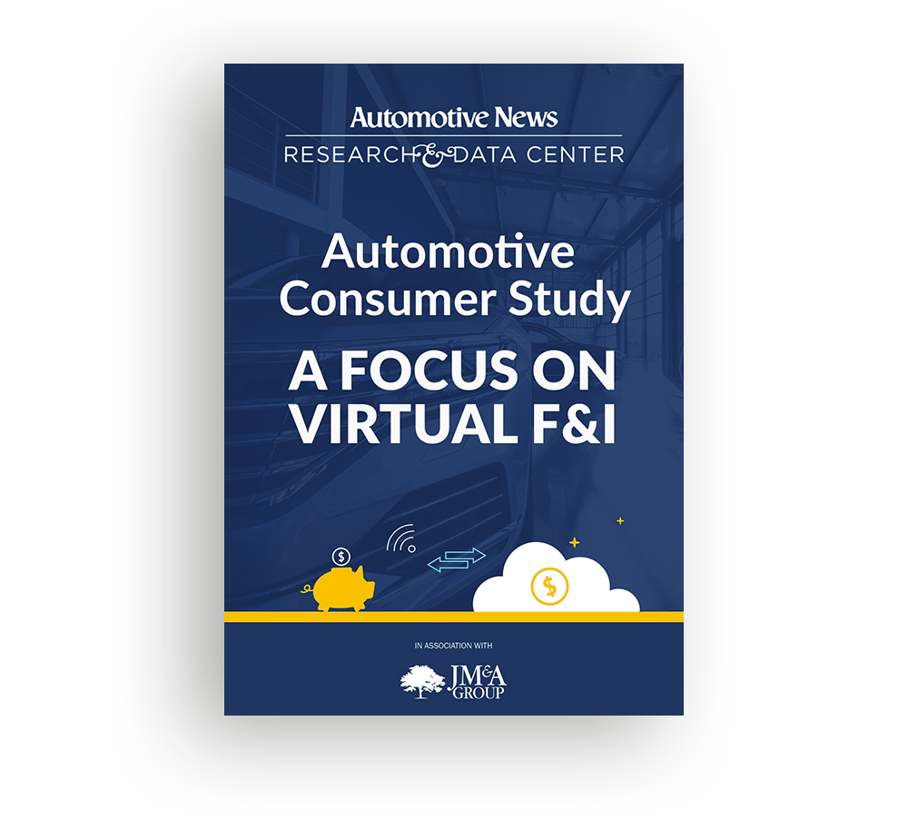 Automotive Consumer Study - A Focus on Virtual F&I